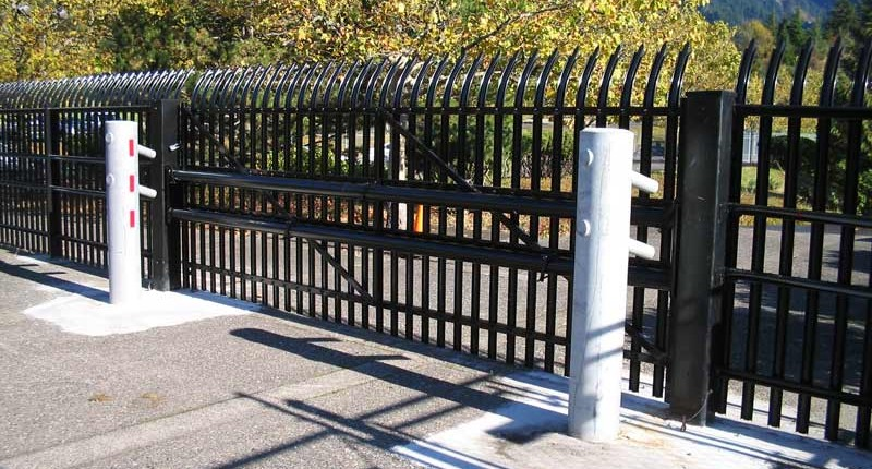 Perimeter Fence Gate Concrete - Herring Technology, Nashville